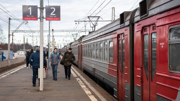 Дополнительную остановку на платформе «Морозки» будет делать электричка Москва – Дубна