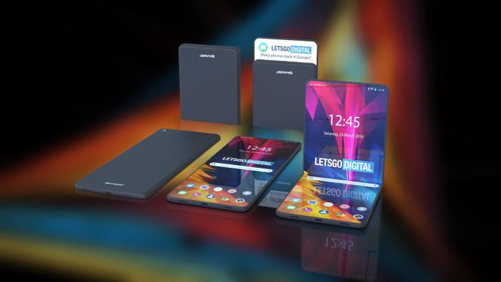Sharp показала свой складной смартфон, выдерживающий 300 000 сгибаний