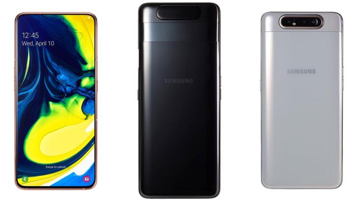 Samsung представила Galaxy A80 смартфон с выдвижной поворотной камерой