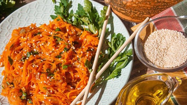Тыква по-корейски — простая и полезная закуска