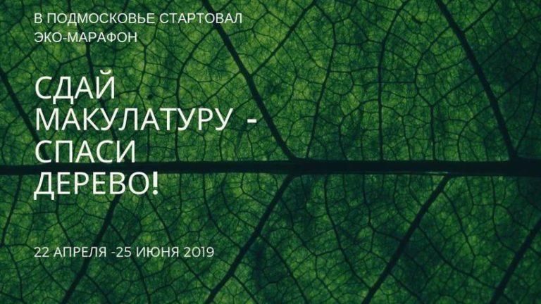 Экомарафон «Сдай макулатуру – спаси дерево!» начался в Подмосковье