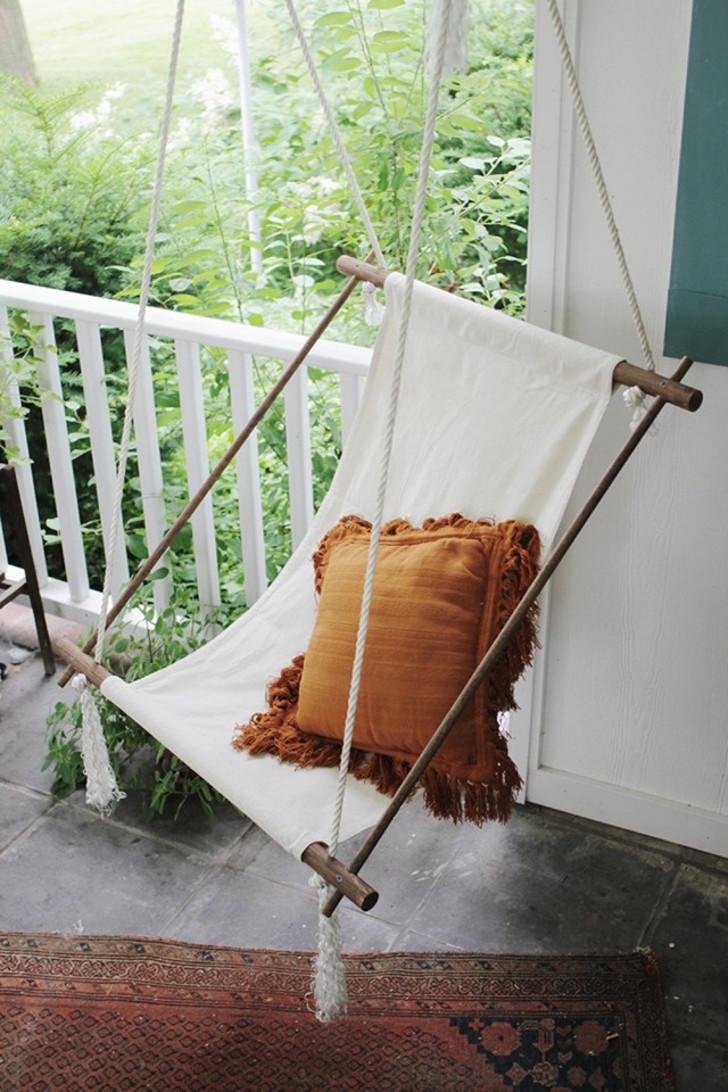 Минималистичное кресло-гамак. © Flipboard