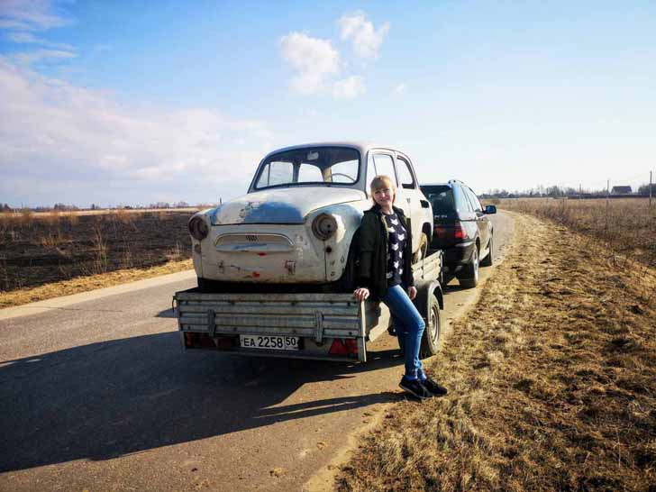 ЗАЗ 965 (фунтик) Везем домой