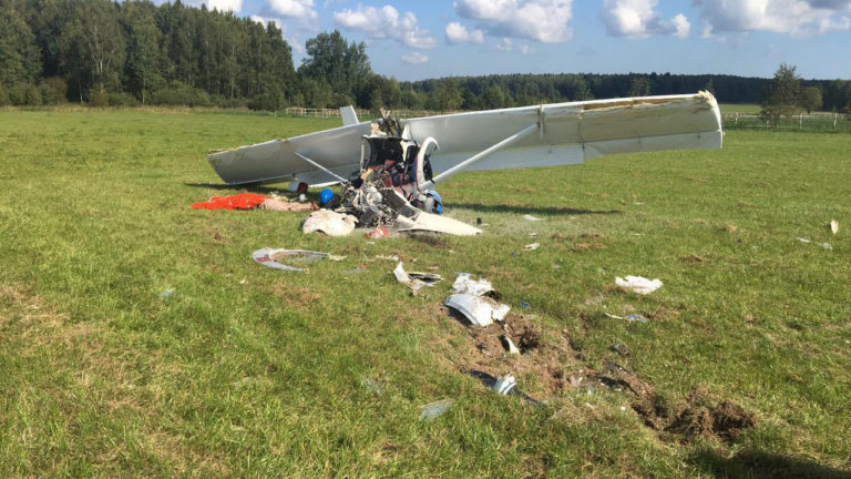 Погиб пилот самолёта разбившегося под Клином