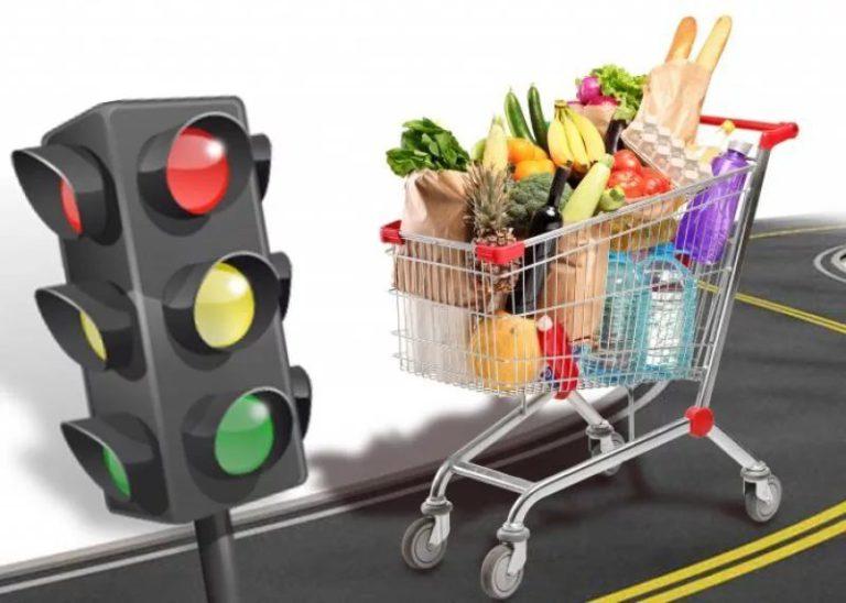 Продукты  будут маркироваться цветами светофора