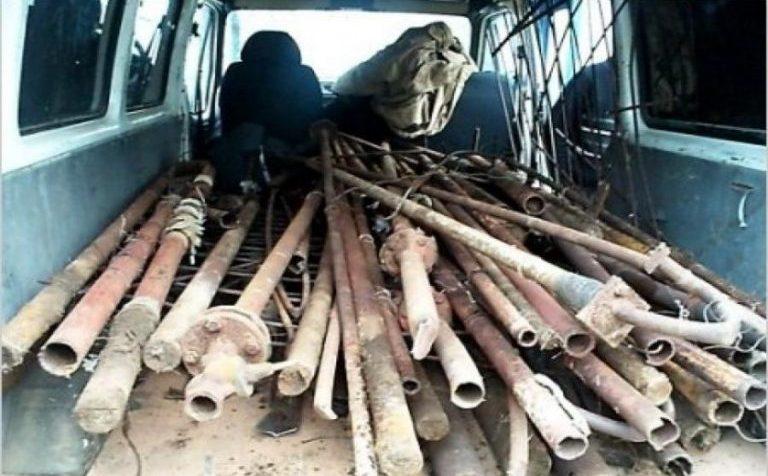 В подмосковном Клину полицейские нашли похитителя металла