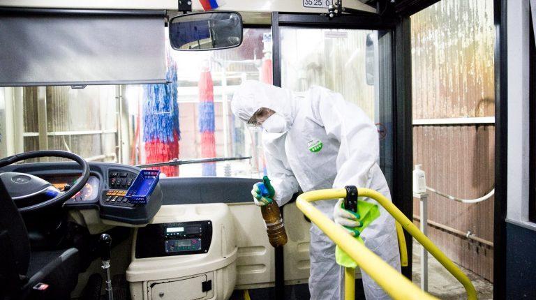 Дополнительную дезинфекцию автобусов проводит в Солнечногорске перевозчик «Стартранс»