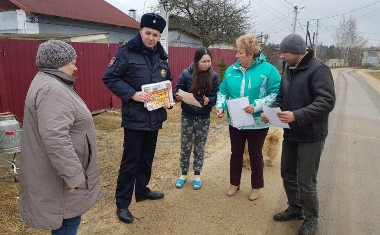 Клинские полицейские провели акцию «Вместе против мошенников»