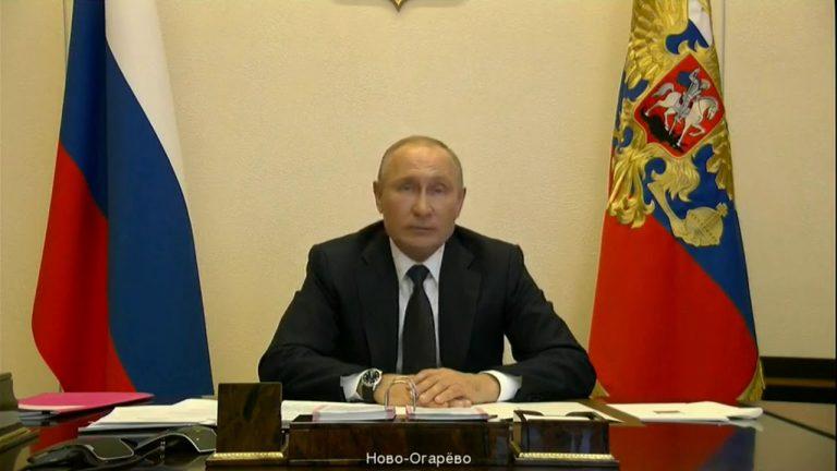 Владимир Путин сегодня выступит с телеобращением