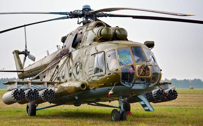 Военный вертолет разрушился под Клином Московской области