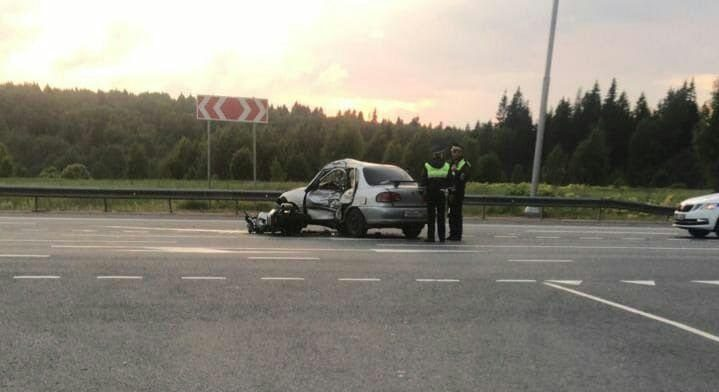 В Клину Московской области чуть не погиб мотоциклист