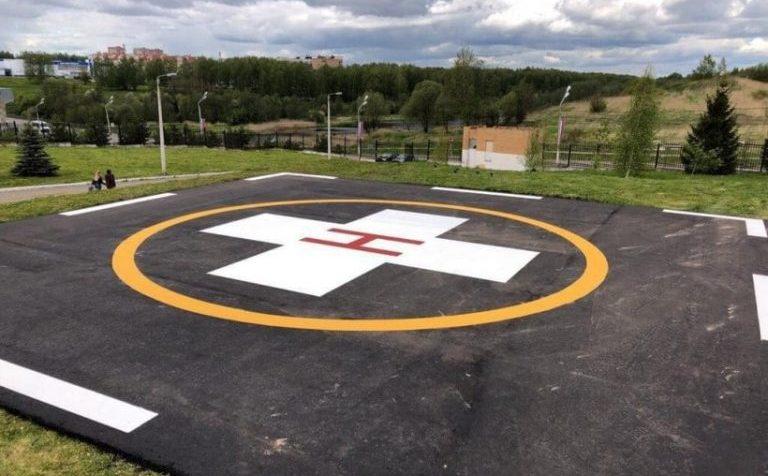 На территории клинской КГБ могут садиться вертолёты