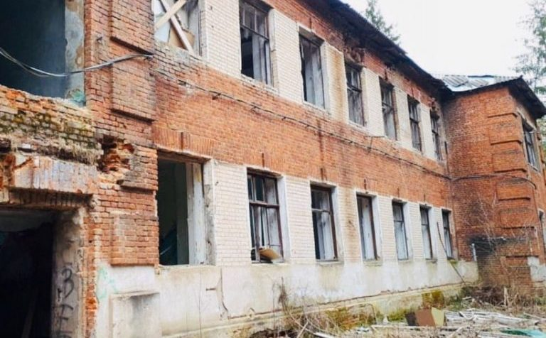 Здание хирургического отделения снесли в г.о. Клину Московской области
