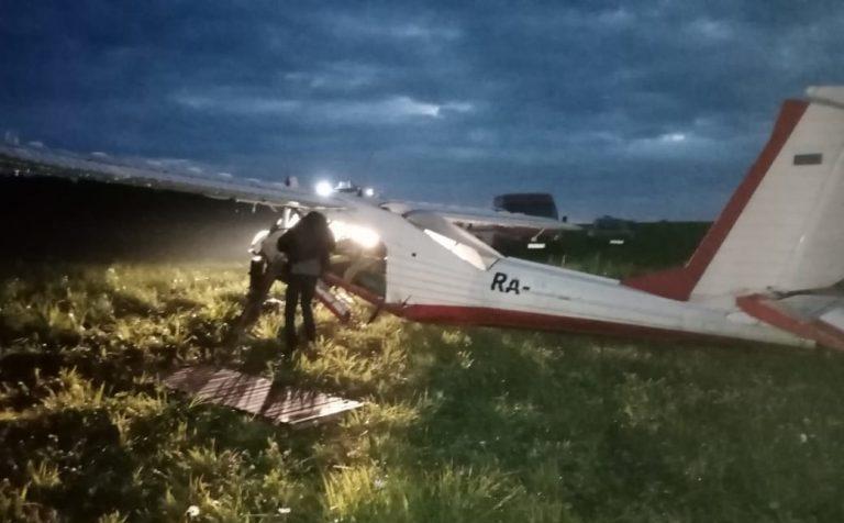 В Щекино совершил жесткую посадку легкомоторный самолёт