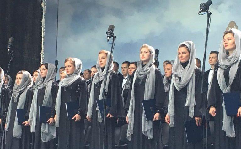 В Клину на Советской площади начался концерт духовной музыки
