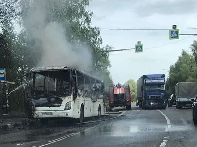 Пожары. Автобус сгорел из-за неисправности узлов и агрегатов