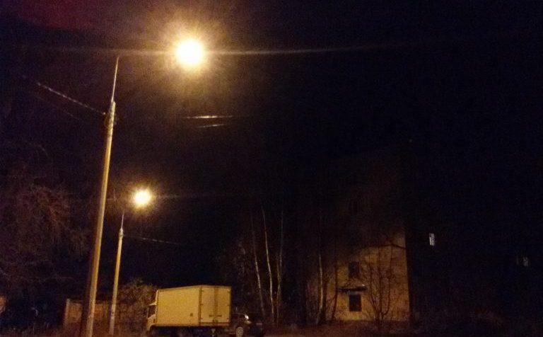 Уличное освещение частично появилось в Клин-9