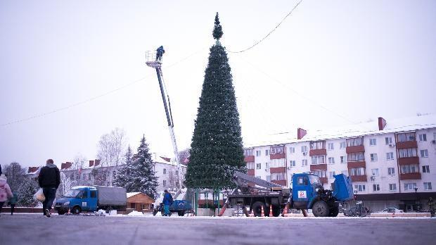 В Солнечногорске установили новогоднюю ель