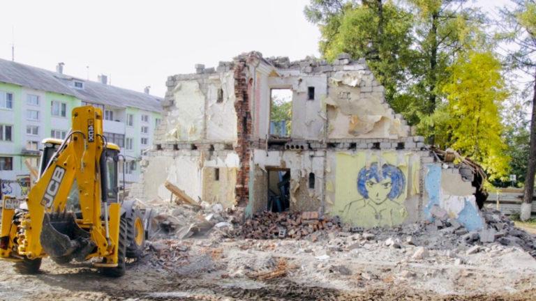 На проезде Танеева снесен аварийный дом