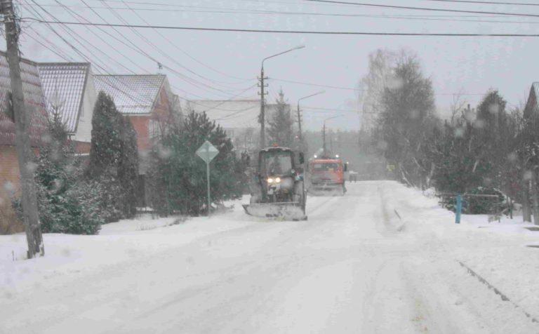 снегопад; расчистка улиц