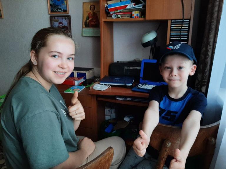 Клинский ребёнок получил ноутбук от школьницы из Ногинска