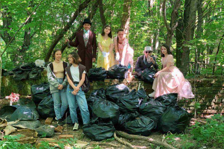 Волонтёры «Зелёной линии» прибрались в Демьяново